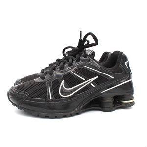 Nike Shox Sneakers Size 4.5Y Black White 2008